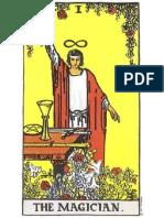 Rider Waite tarot Magician card, the Zodiac sign of Aries