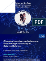Changing Incentives and Advocacy:Empowering Civil Society to Catalyze Reforms Experience from Urban Kathmandu