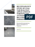 Study of Coal Tar Sealant Application in Toronto