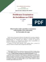 Problemas Economicos Socialismo na Urss