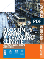 Climate Change - Adaptation Challenges and Choices