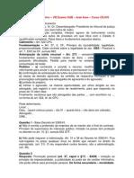 Gabarito Extraoficial - Direito Administrativo - OAB - VIII Exame - 2012 - CEJUS, CERS, LFG, Damasio e Esfera