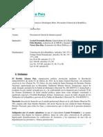 DENUNCIA PENAL CONTRA LEONEL FERNANDEZ Y COMPARTES