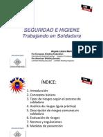 Lazaro a. Seguridad e Higiene, Trabajando en Soldadura