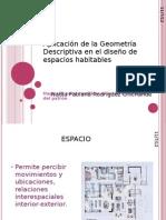 Aplicación de la Geometría Descriptiva en el diseño
