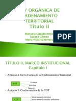 LEY ORGÁNICA DE ORDENAMIENTO TERRITORIAL EXPOSICIÓN (1)
