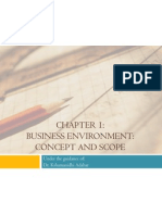 Business Environment (Concepts and Scope)