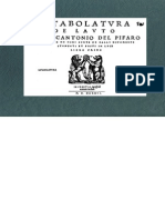 PIFARO, M. del • Intabolatura de lauto di Marcantonio del Pifaro (Antonio Gardane, Venetia 1546) (facsimile italian lute tablature)