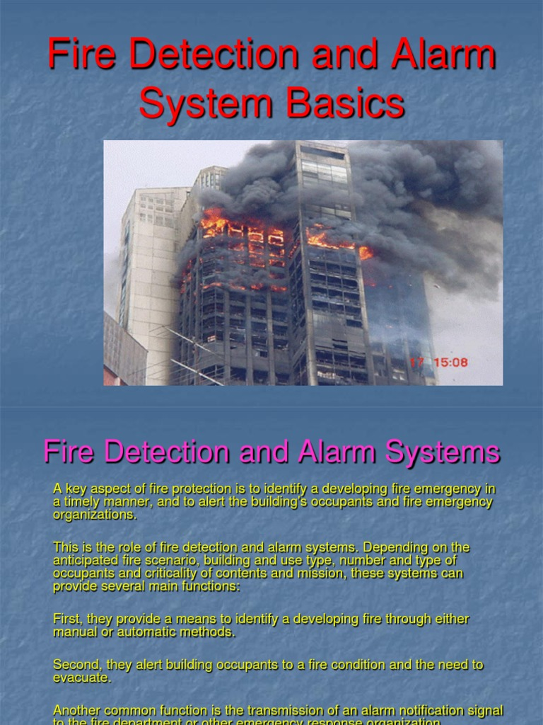 Fire Alarm System Basics