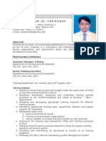 CV of Md. Abdullah Al Farooque