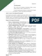 Definición de Investigación Documental (ICSA)