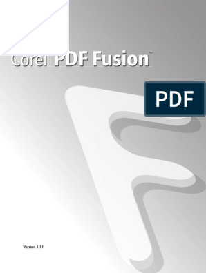 Corel PDF Fusion User Guide   Windows Xp   Windows Vista