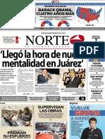 Periodico Norte de Ciudad Juárez 7 de Noviembre de 2012