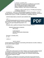 ORDIN Nr. 236 din 2 octombrie 2012  pentru aprobarea Regulamentului privind organizarea şi desfăşurarea concursurilor  profesionale ale serviciilor voluntare şi private pentru situaţii de urgenţă