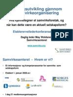 Etablererveileder 2012 - May Woldsnes - Samvirkesenteret SA