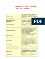 Glossary of International Trade Terms
