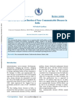 An Overview of the Burden of Non- Communicable Diseases In