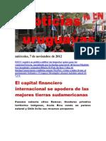 Noticias Uruguayas miércoles 7 de noviembre del 2012