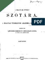 A magyar nyelv szótára I. kötet