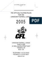 The Official Playing Rules for the CFL 2005