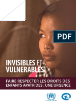 Invisibles Et Vulnerables