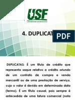 4. Titulo de CrEdito - Duplicata