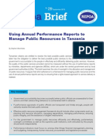 Using Annual Performance Reports toManage Public Resources in Tanzania