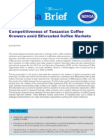 Competitiveness of Tanzanian CoffeeGrowers amid Bifurcated Coffee Markets