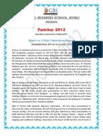 Parichay 2012 Report