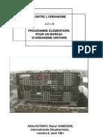 Commentaires contre l'urbanisme suivi de Programme élémentaire du bureau d'urbanisme unitaire (I.S. n°6 1961)