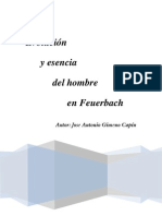 Evolucion y Esencia Del Hombre en Feuerbach
