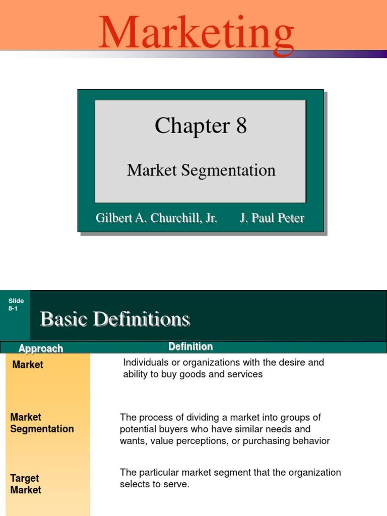 churchill 08 | market segmentation | marketing