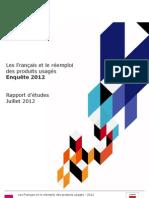 Les Français et le réemploi des produits usagés