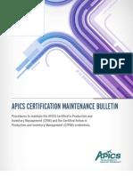 Cpim Maintenance Bulletin