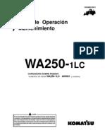 Manual Oper Mant Cargador Ruedas Wa250 Komatsu