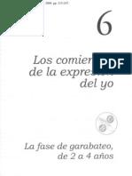 Cap6_Los Comienzos de La Expresion Del Yo - La fase de garabateo de 2 a 4 años.