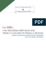 Le MRC, une boussole républicaine pour la gauche et pour la France