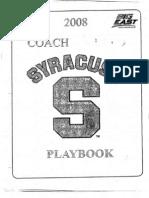 2008 Syracuse Offense