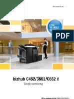 Konica Minolta bizhub C452/C552/C652 Brochure