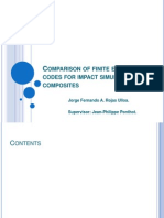 Comparison of Finite Element Codes for Impact Simulation