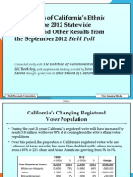 NAM - Preferences of California's Ethnic Voters in the 2012 Statewide Elections and Other Results from the September 2012 Field Poll