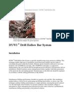 DSI-37 Self-Drilling Bolt Proof | Drill | Deep Foundation