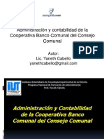 Administracion Contabilidad Cooperativa Banco Comunal