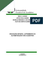 Artigo - Alfabetização e Letramento