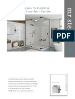 Guidelines for Installing a Mr.steam Steambath System