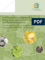 Formulating and Implementing Sector-wide Approaches in Agriculture and Rural Development