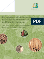 Formulating and Implementing Sector-wide Approaches in Agriculture and Rural Development: Tanzania