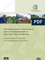 Tracking results in agriculture and rural development in less-than-ideal conditions