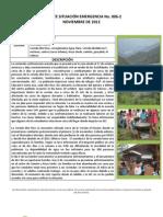 REPORTE SITUACIÓN EMERGENCIA No. 006-2