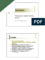 Predavanja Aa Pedagogika 2010-11